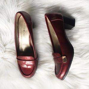 Bandolino Red Metallic Block Heel
